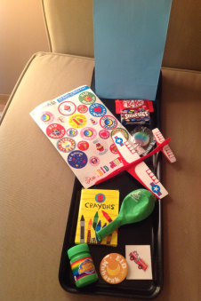 Custom goody bag created for a boy.