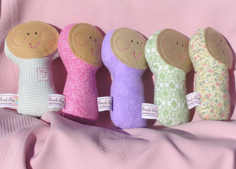These multicultural cloth dolls provide comfort for infants and toddlers. The perfect size to cuddle. Price: $15.50
