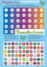 "This Ramadan Chart is a beautiful chart to scoop up right now and present to a child before Ramadan next year. It features 66 stickers that highlight significant behaviours such as ""Mashallah I woke up for sahoor""; ""Alhamdulillah I had sabr""; ""I prayed salah""; ""I helped to make iftar"". Price: $7.50"
