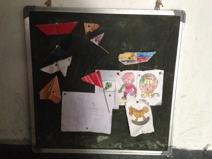 "A student ""art"" board"