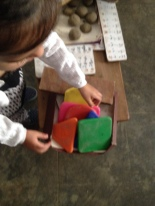 Plastic coloured shapes