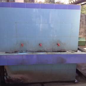 Outdoor sinks, ideal for handwashing before mealtime (meals are provided by the school)