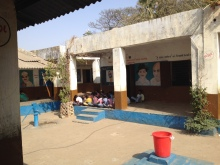 A view ofthe assembly, boys side